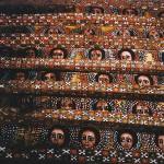 Ceiling of the Debre Berhan Selassie Church, Gonder, Ethiopia
