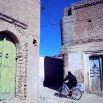 Cyclist in Nefta, Tunisia