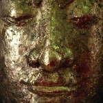 Buddha Statue Covered in Gold Leaf, Ayutthaya, Thailand