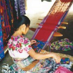 Woman Weaving Cloth in Agua Caliente, Guatemala