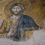 Byzantine Mosaic in Hagia Sophia, Istanbul