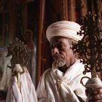 White Robed Ethiopian Orthodox Priest in Lalibela, Ethiopia