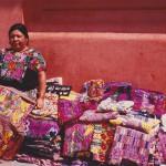 Woman Selling Woven Goods in Antiqua. Guatemala