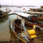 Boats Moored on the Perfume River, Hue, Viet Nam