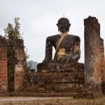 Temple Bombed During the Vietnam War, Plain of Jars, Laos