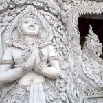 Ornate Exterior Carving at Wat Prathat Chae Haeng, Nan, Thailand