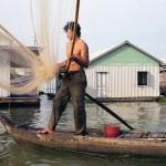 Cham Fisherman Outside Chau Doc, Viet Nam