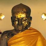 Buddha Statue Inside That Luang, Vientiane, Laos