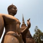 Metal Buddha Statue in Sukothai, Thailand