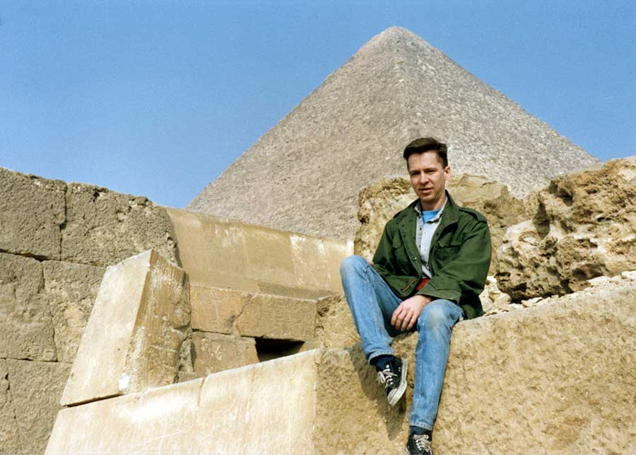 Visiting the Pyramids, Egypt