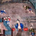 Part of a Mural at Wat Phu Min, Nan, Thailand