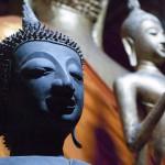 Metal Buddha Statues in Luang Prabang, Laos