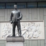 Maoist Era Statue and Carved Relief, Shanghai