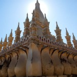 Rear View of That Luang, Vientiane, Laos