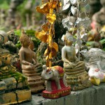 Buddha Figurines at Wat Umong, Chang Mai, Thailand