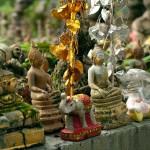 Buddha Figurines at Wat Umong, Chang Mai, Thailand