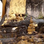 Small Buddha Statues in Bombed Out Temple, Plain of Jars, Laos