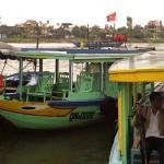 The Thu Bon River in Hoi An, Vietnam