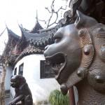 Bronze Lions at Yu Gardens, Shanghai