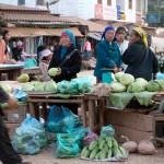 Rural Vegetable Market South of Luang Prabang, Laos