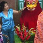 Demon Statue at the Sri Mariamman Hindu Temple in Saigon, Viet Nam