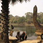 Workers Taking a Break at Angkor, Cambodia