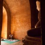 Artist Selling His Paintings Inside a Temple in Bagan, Myanmar