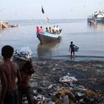 Boys Bringing Fish to Market in Sittwe, Myanmar
