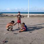 Boys Preparing To Fly Kites In Baracoa, Cuba