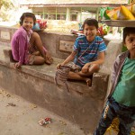 Child Snack Vendors at Hmwe Paya (the Snake Temple) in Paleik, Myanmar
