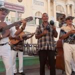 Musicians Performing in Cespedes Park, Santiago de Cuba