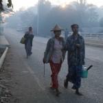 Dawn in Mrauk U, Myanmar