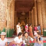 A Gilded Shrine at Shwedagon Paya, Yangon, Myanmar