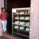 Girl Selling Cakes in Leon, Nicaragua