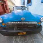 Old American Car in Santiago de Cuba