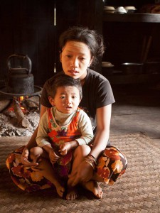 Palaung Woman With Baby in Shan State, Myanmar