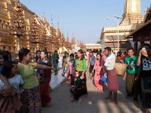 Local People at Shwezigon Pagoda, Nyaung U, Myanmar