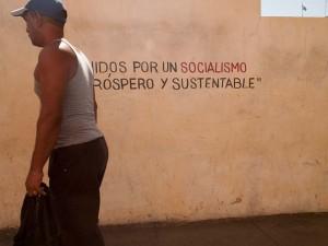 Revolutionary Slogan in Santiago de Cuba