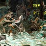 Fantasy Sea Battle Depiction at Haw Par Villa, Singapore
