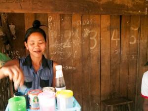 Shop Girl in Rakhine State, Myanmar