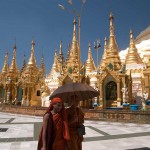 Buddhist Monks at Shwedagon Paya, Yangon, Myanmar