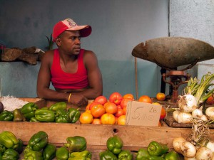 Vegetable Seller in Santiago de Cuba
