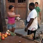 Woman Selling Vegetables in Santiago de Cuba
