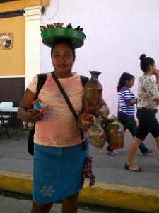 Souvenir Vendor in Grenada, Nicaragua