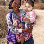 Woman and Baby in Old Bagan, Myanmar
