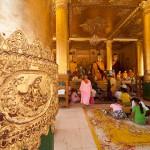 Worshipers at Shwedagon Paya, Yangon, Myanmar