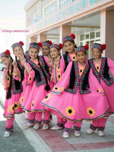 Girls in Traditional Karakalpak Costumes in Moynaq, Uzbekistan