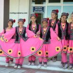 Girls in Traditional Costumes in Moynaq, Karakalpakstan