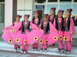 Girls in Traditional Costumes in Moynaq, Karakalpakstan