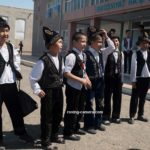 Karakalpak Boys Wearing Traditional Clothing in Moynaq, Uzbekistan